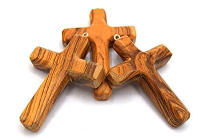 Woodisland - Croix en bois d'olivier fabriqué façon artisanale, poli, finition a l'huile