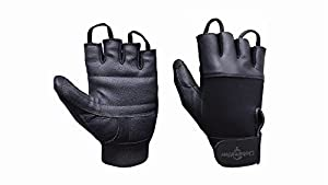 Globaleather Leather Suregrip Wheelchair Gloves (Choose Your Size)