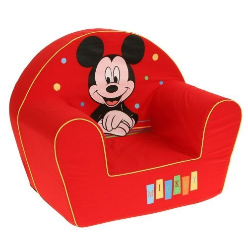 Disney - 6720024 - poltrona - decorazioni happy mickey mouse - rosso,