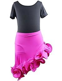 ARAUS Vestido de Baile Latino Niñas Traje de Baile Chicas Ropa Flamenco