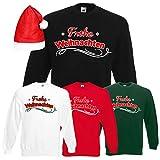 Shirt-Panda Herren Unisex Sweatshirt · Frohe Weihnachten · Merry Christmas Weihnachts Bedruckt Zeit Advent Schneeflocke Männer Weihnachtsmütze mit oder ohne Mütze ·