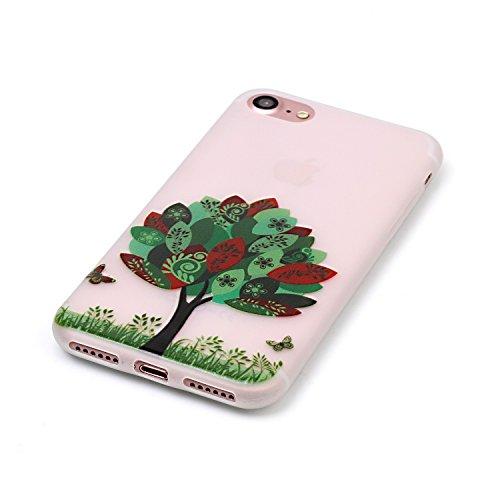 Voguecase® für Apple iPhone 7 hülle, Schutzhülle / Case / Cover / Hülle / TPU Gel Skin mit Nachtleuchtende Funktion (I love you 04) + Gratis Universal Eingabestift Bunten Baum 01