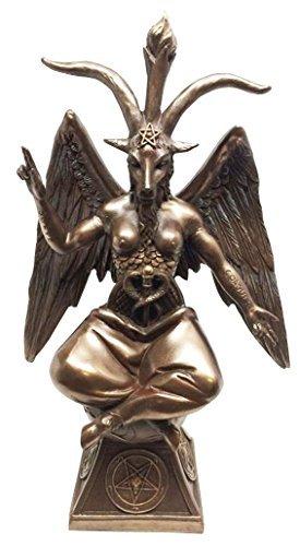 Details about BAPHOMET STATUE IDOL OCCULT WORSHIP SATANISM SABBATIC GOAT SCULPTURE