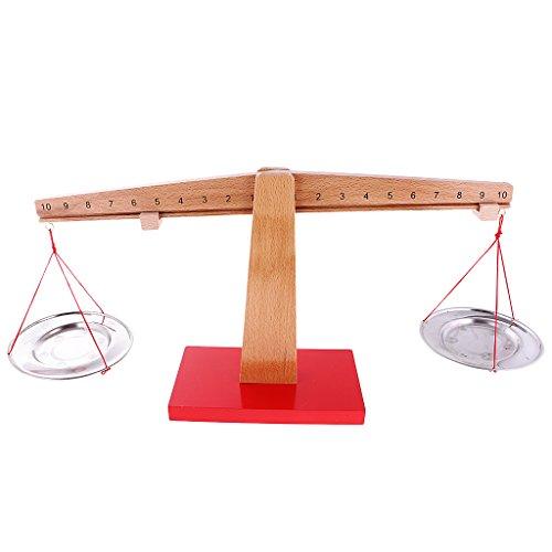 MagiDeal Madera Montessori Número y Equilibrio Matemáticas Aprendizaje Juguete Ayudas de Enseñanza