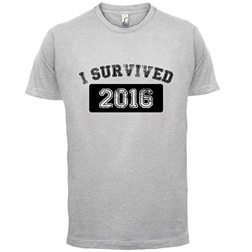 I Survived 2016 - Herren T-Shirt - 13 Farben Hellgrau