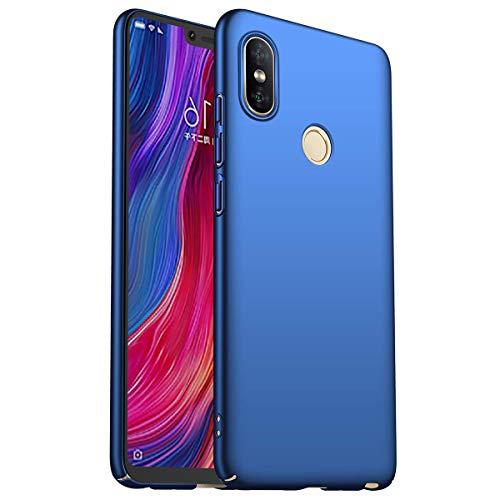 HUUH Cover Xiaomi Redmi Note 6 PRO Elegante e Semplice Custodia per Telefono Cellulare Anti-Impronta Ultra-Sottile di Lusso riflette Perfettamente la Bellezza del Colore Solido(Blu Scuro)