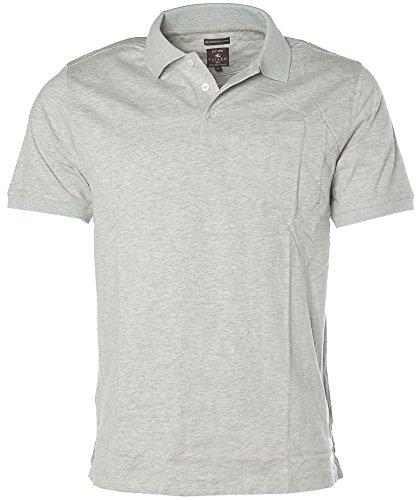 Kitaro Herren Kurzarm Shirt Polokragen Poloshirt DBL Mercerised Cotton Vapour Grey melange