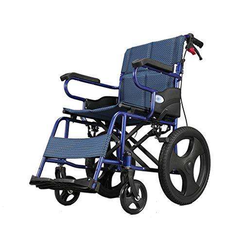 Y-L Sedia a Rotelle Pieghevole, Leggera e Pieghevole in Lega di Alluminio per Disabili su Sedia a Rotelle per la Guida di Forniture Mediche per Adulti per Medici, Corsa per Disab