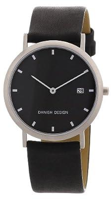 Reloj de caballero Danish Design 3316110 de cuarzo, correa de piel color negro (con fecha) de Danish Design