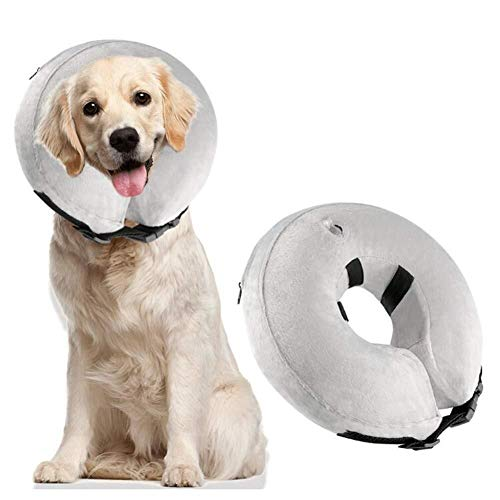 Haustier-Hundeschützendes Aufblasbares Halsband, Haustier-Erholungshalsband Einstellbarer Weicher Haustier-E-Kragen-Hundeschwimmschutz For Mittelgroße/Große Hunde Und Katzen Haustierhalsband -