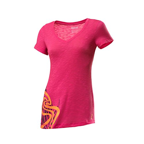 Reebok T-Shirt Ownmoves Grapht rosa S (Reebok Rosa T-shirt)
