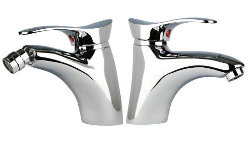 Design Badarmatur Set / Waschbecken und Bidet Armatur / Mischbatterie Bad