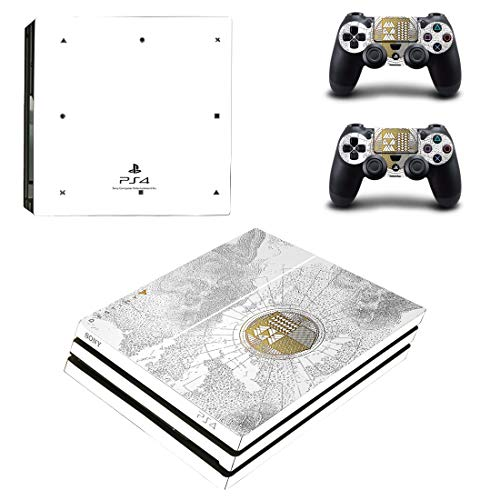 Adventure Games - PS4 PRO - Destiny Spec. Ed. Playstation 4 Vinyl-Konsolen-Aufkleber und 2 Controller-Skins Set - 4 Playstation Konsole Destiny