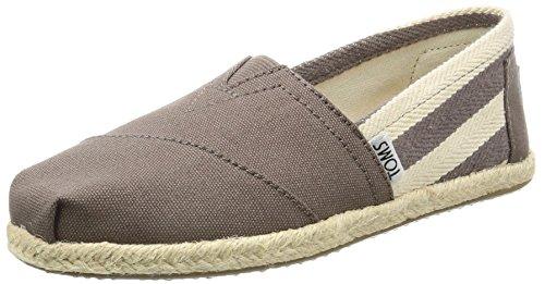 TOMS Classics Alpargata, Sneaker Donna, Grigio (Dark Grey Stripe University), 38 EU