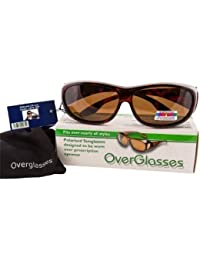 Brown Polarised Overglasses - turn prescription glasses into sunglasses in an instant! by Opticaid
