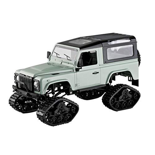 CHshe®--Ferngesteuertes Auto,FY003B 1:16 RC 2,4 GHz 4WD Kettenräder Metallrahmen Lkw RC Auto RTR Spielzeug Neues Design,Geländewagen Spielzeugmodell (GrüN)