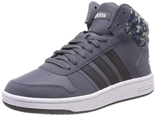 Adidas hoops mid 2.0 k, scarpe da basket unisex-bambini, grigio onix/carbon/clowhi, 31 eu