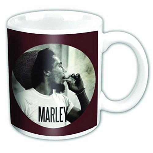 Bob Marley Kaffeetasse Circle logo Nue offiziell Weiß Boxed