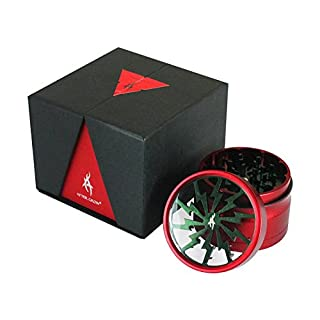 Thorinder Xmas Limited Version Herb Grinder 4 Piece By After Grow Color Orange Crusher Premium with Pollen Catcher&free Scrapper