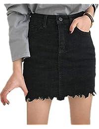 b2527e10e8 Amazon.it: gonna jeans - Nero / Gonne / Donna: Abbigliamento