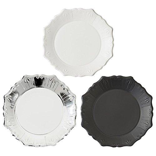 Talking Tables PPS-Plate-Med Porcelaine Party Lot DE 12 Assiettes Moyen Plastique Multicolore 2.2 x 0.022 x 22.3 cm