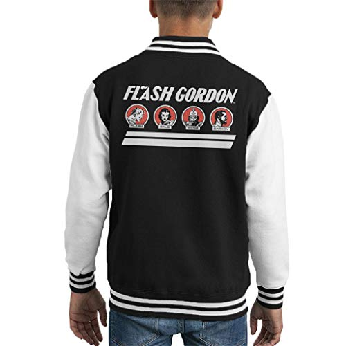 Flash Gordon Retro Comic Character Line Kid's Varsity Jacket (Für Jungen Jacken Varsity)