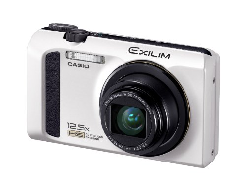 Casio Exilim EX-ZR100 Highspeed-Digitalkamera (12 Megapixel, 12,5-fach opt. Zoom, 7,6 cm (3 Zoll) Display, bildstabilisiert) weiß
