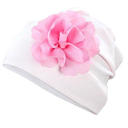 TupTam Mädchen Beanie-Mütze mit Blume Jersey Topfmütze, Farbe: Hellrosa, Größe: XS (1,5 - 2 Jahre / KU ca. 46-48 cm)