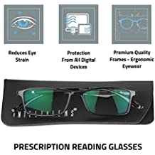 Intellilens® Nvision Power Reading Glasses with Blue Cut & Anti-Reflection for Protection against Digital Devices such as Computer Tablet Laptop Mobile (Unisex) (+3.00)