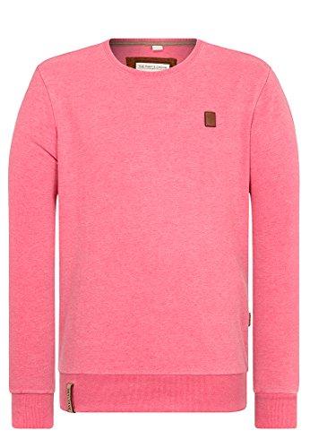 Naketano Male Sweatshirt Asgardian VI Heritage Raspberry Melange