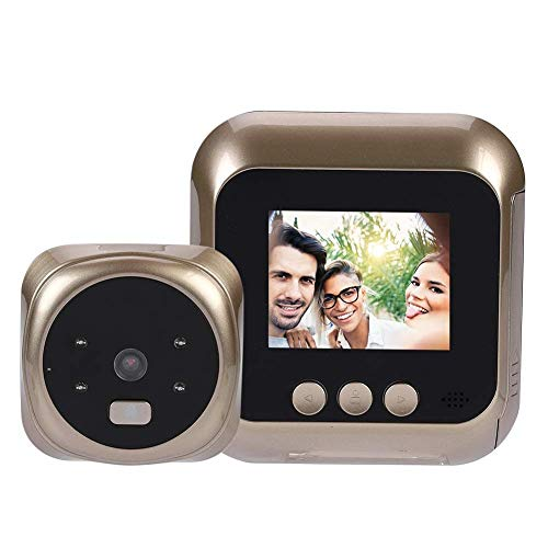 Kafuty 2,8in Pantalla LCD Timbre de Cámara Digital con Mirilla con Visual Cámara HD 300,000 píxeles Lente 135 Grados Gran Angular HD Visión Nocturna 4 LED Infrarrojo 24 Horas Vigilancia en Vasa