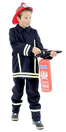 Feuerwehrmann Kostüm für Kinder | Größe: 92 – 134 - 2