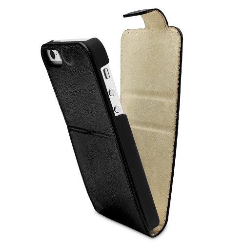 PLM Support en cuir flip case cover Anamur avec fonction support noir