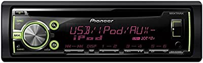 Pioneer DEH-X3700UI - Radio para coches de 4x50 W para iPod, iPhone, Android 4.0, negro