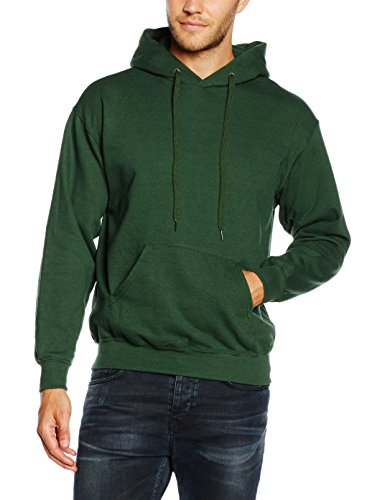 fruit-of-the-loom-ss026m-capucha-hombre-green-bottle-green-medium