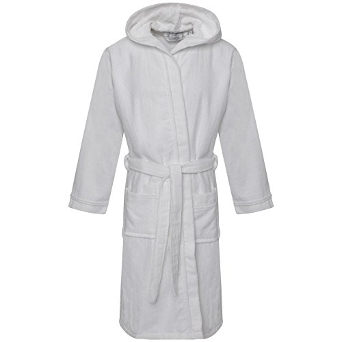 Unisex 100% Kids Egyptian Cotton Bath Super Soft Veloue Towel Bath Robe Hooded Dressing Gown Boys Night wear House Coat Girls Lounge Wear With Pocket and Belt