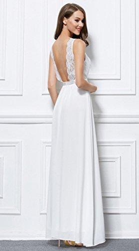 Vimans -  Vestito  - linea ad a - Donna Avorio