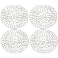 Lot 4 Filtres à évier plastique Design City Blanc ref 328250060