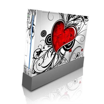 Nintendo Wii Skin Vinyl modding Design Folie Komplett Aufkleber Set - My Heart