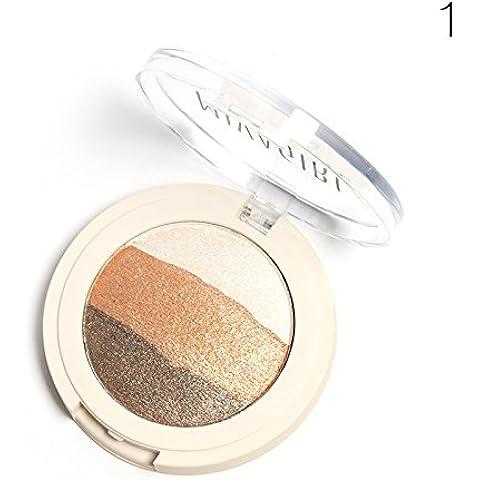 starvy (TM) maquillaje sombra de ojos Shimmer matalic 3Textura Cremosa de color nude naked Eyeshadow Palette