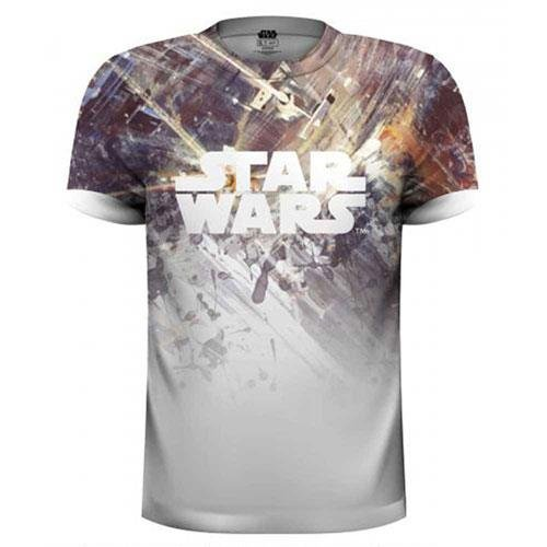 Rockoff Trade Men's Star Wars Dogfight Sublimation T-Shirt