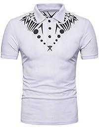 Camisa De Polo De Los Hombres Moda Fit De Slim Polo De Estilo Étnico Cómodo Camisa