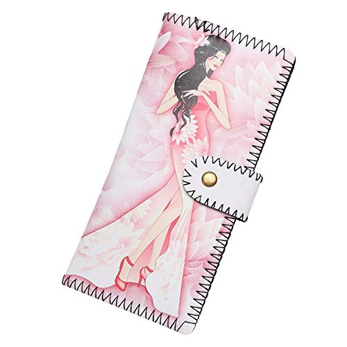 ALIKEEY Women Fashion Cartoon Character Long Wallet Coin Purse Card Holders Handbag