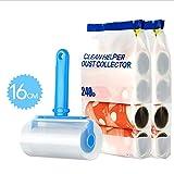 CONGMING Rullo di Lanugine Spazzola Levapelucchi Rullo Adesivo Rullo di Lanugine Grande Pavimento in Moquette Blu per Animali Domestici Staccabile di 16 Cm (Colore : Blue 9 Rolls)