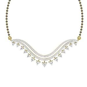 TBZ - The Original 18k (750) Yellow Gold and Diamond Mangalsutra Necklace