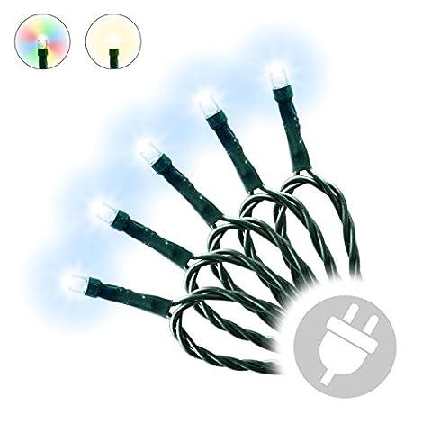 300er LED Lichterkette außen Trafo Party Deko grünes Kabel (kaltweiß)