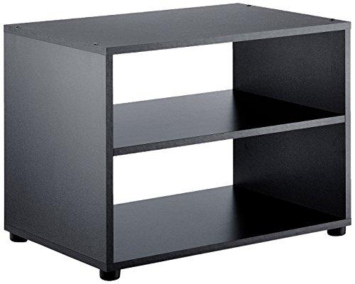 fernsehschrank holz CAVADORE TV-Stand Vancouver/TV-Regal in Schwarz 60 cm breit/Modernes Regal für Fernseher mit praktischer Ablagemöglichkeit/Holzwerkstoff / 60 x 39 x 45 cm (B x T x H)