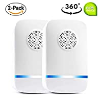 Ultrasonic Pest Repeller Plug in Pest Control - Mice Repellent & Rat Repellent in Pest Repellent - Bug Repellent for Ant,Mosquito,Mice,Flea,Fly,Spider,Roach,Rat - No More Trap & Bait [2 Pack]