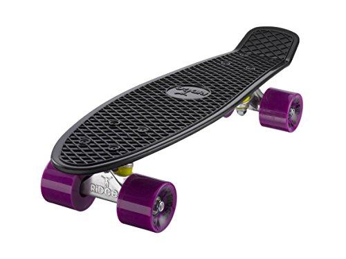 Ridge Skateboard Mini Cruiser, schwarz-lila, 22 Zoll