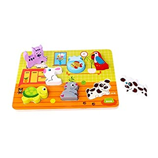 Andreu Toys tk15120Craft Trikes Pet Block Puzzle, 29,5x 21x 1,7cm